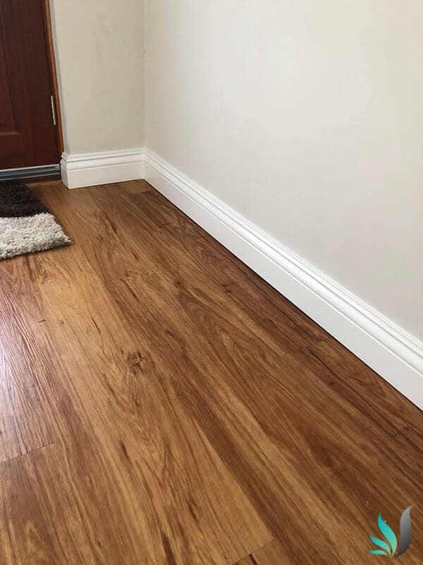 Custom Creations Perth WA hallway skirting boards over hardwood floor