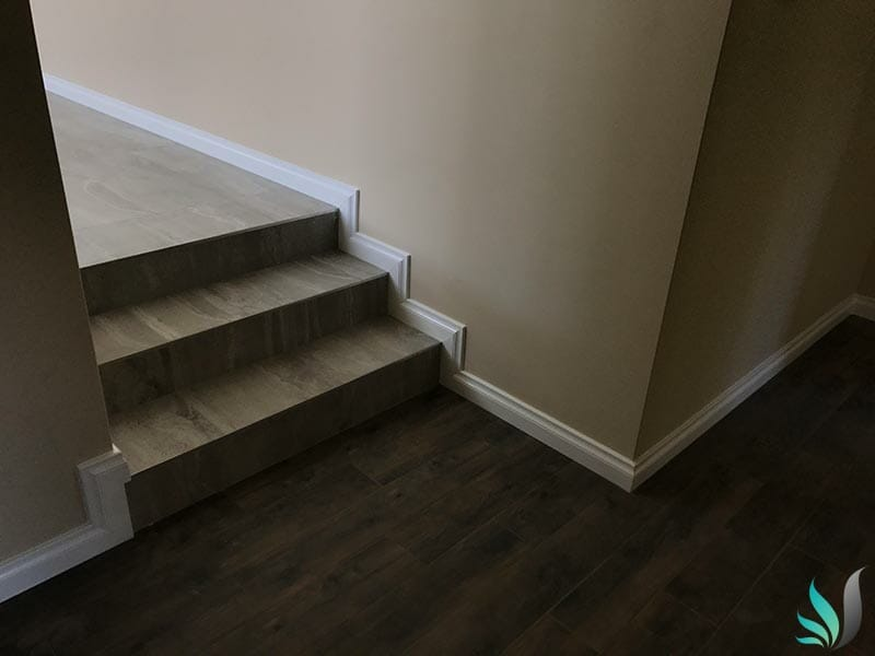 Custom Creations Perth WA split level stair case skirting boards