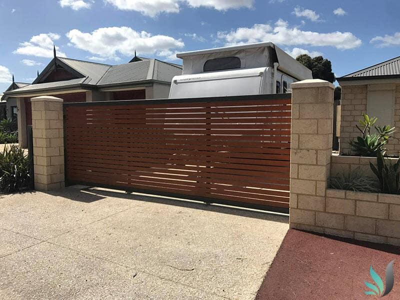 Custom Creations Perth WA automatic sliding driveway gates