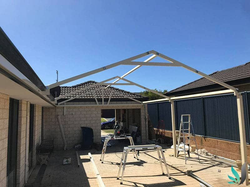 Custom Creations Perth WA progress steel outdoor entertainment areas construction