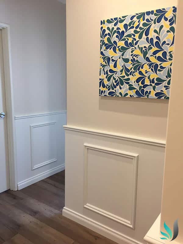Custom Creations Perth WA - Wainscoting Hamptons Style Wall Panelling Installation