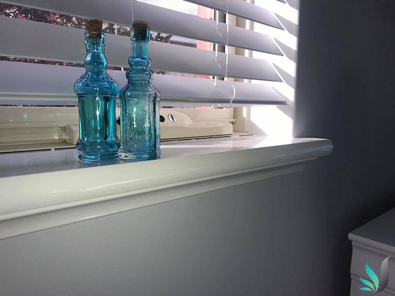 Custom Creations Perth WA window sills painted high gloss paint