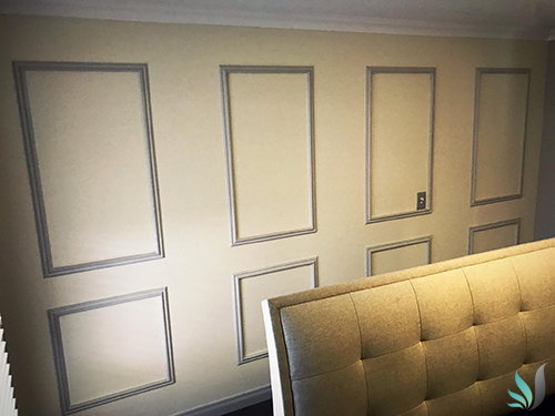 Custom Creations Perth WA decorative wall panelling in living room