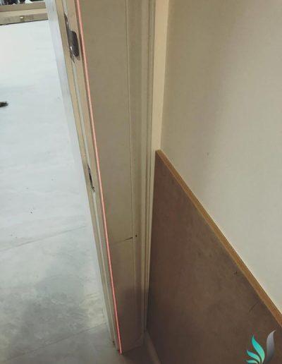 Custom Creations wainscoting wall panelling installation in Sorrento WA home doorway