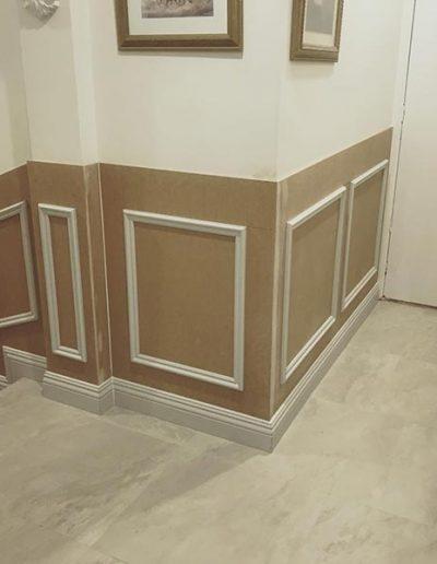 Wainscoting wall panelling to Sorrento WA home